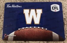 Winnipeg Blue Bombers CFL Tim Horton's CANADA Gift Card *No Value Reloadable