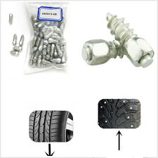 100in1 Steel Body With Carbide Tips 9mm Car Wheel Tyre Snow Chains Non-slip Stud