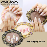 Retro Nail Art Frame False Nails Display Showing Stand Manicure Tips Board Rack