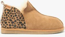 Shepherd ANNIE Ladies Womens House Sheepskin Boot Slippers Leopard/Chestnut