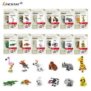 Bricstar 3D Mini-Nanoblock Bausteine 12 Verschiedene Tiere