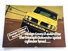 1974 Triumph Dolomite Sprint UK Original Car Brochure Folder - Race 1975