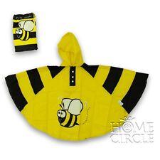 Bugzz Children Kids Waterproof Hooded Raincoat Rain Poncho Coat Jacket Bee Ponbee 3-6 Years