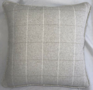 A 16 Inch cushion cover in Laura Ashley Elmore Natural Fabric