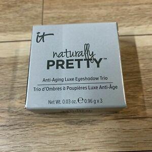 It Cosmetics Naturally Pretty Luxe Eyeshadow Trio PRETTY IN PLUM  BNIB   RARE!