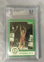 LARRY BIRD 1984 STAR 17 HOF BASKETBALL BOSTON CELTICS PERSONAL DATA BGS 8.5