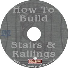 How To Build Stairs & Railings { Vintage Staircase Design Books } on DVD