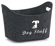 Brabtod Felt pet Toy Box and Dog Toy Box Storage with Handles pet Toy Basket - -