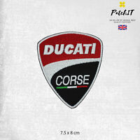 Ducati Corse Motorbike Brand Logo Patch Iron On Sew On Badge Embroidered Patch