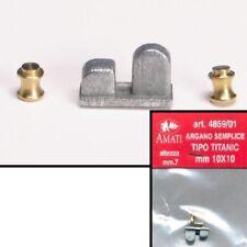 ARGANO SEMPLICE TIPO TITANIC 10X10mm ALTEZZA 7mm AMATI 4859/01 MODELLISMO NAVALE