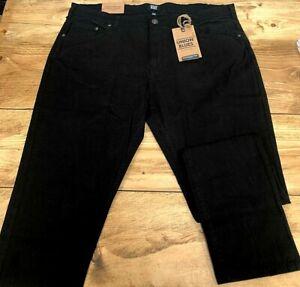 Mens Union Blues Black Slim Fit Denim Jeans - UK Size 36W 35L