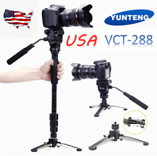YUNTENG VCT-288 Camera Tripod Monopod Stand+Fluid Ball Head + Unipod Holder A7B8
