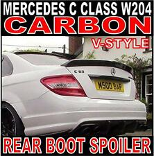 Mercedes C Class W204 Saloon V-Style Carbon Rear Boot Spoiler C63 DTM Ducktail