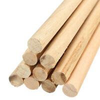 10pcs Wooden Arts Craft Sticks Dowels Pole Rods Sweet Trees Wood Stick