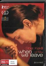 WHEN WE LEAVE -  NEW & SEALED  REGION 4 DVD FREE LOCAL POST