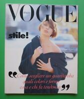 VOGUE ITALIA Febbraio 1992 February Naomi Campbell Linda Evangelista NADEGE 498