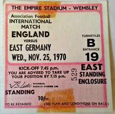 More details for england v east germany international match ticket wed. 25/11/1970 wembley.
