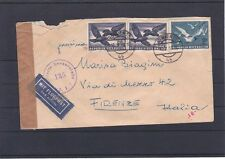 Censored Air Mail Postage properly run 16.5.1953 wieh-Italy please read