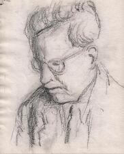 Ritratto MASCHILE DISEGNO A MATITA c1930 Walter sickert PUPILLA Frank Griffith