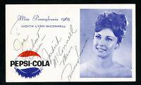 Pepsi-Cola Miss Pennsylvania Card 1965 Autographed