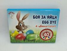 4 Colours Easter Egg Dye Paint for Decorating Painting Colouring Craft Art Eggs