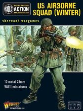 28mm Warlord Games US Airborne Squad (Winter) BNIB WWII Bolt Action,