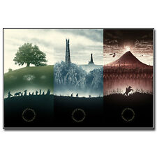 Reprint For The Lord of the Rings 1 2 3 Movie Art Fabric Print Poster Multi