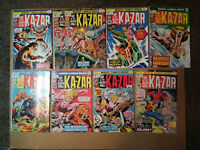Ka-Zar 4,5,6,7,10,12,13 and #14--X-Men 10-Avengers-Hulk-Black Panther-Marvel-Key
