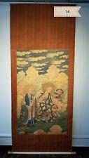 Ding Guan Peng  Luo Han figure silk Antique Scroll