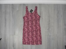 Womens Pink Leopard Animal Print Stretch Fit Dress Bodycon Party UK 12