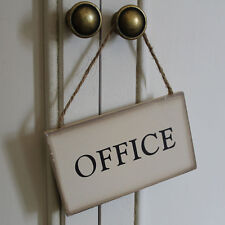 hanging signs home work place office vintage distressed shabby chic vintage aged