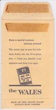 Vintage Bank of New South Wales Unused Wages / Salary Envelope (Westpac)