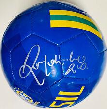 Brazil Ronaldinho Signed Nike Soccer Ball - Autographed BAS Beckett COA Blue