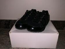 Dolce & Gabana D&G Junior Kids Black Leather Sneakers Size Us 9 Infants