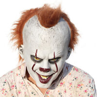 Pennywise Adult Overhead Mask It Stephen King's Costume Evil Clown Xmas Mask