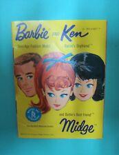 Vtg Barbie Ken Midge  60s Doll Clothes REFERENCE IDENTIFICATION BOOKLET 1962