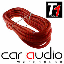 Connects2 T1-5M 8AWG RED - 5 Mete  8 Gauge 8mm Power Cable for Car Amplifiers