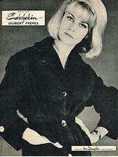 PUBLICITE ADVERTISING 044  1960  GUIBERT FRERES  EDELSKIN  manteau  agneau daim