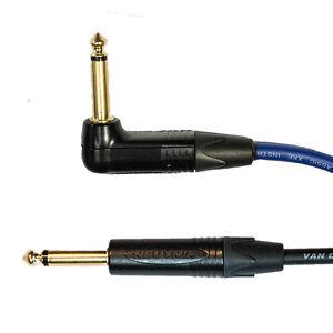 "Van Damme Pro Grade Guitar/Instrument Cable Neutrik 1/4"" Jack Straight to R/A"