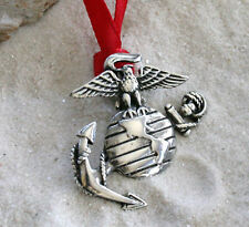 MARINE CORP SEMPER FI Military Troops Pewter Christmas ORNAMENT Holiday Xmas