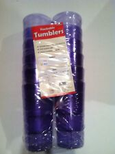 Plastic Tumblers ~ 16 oz. (12 Pack)  ~ Pebbled Design ~ Blue ~  New in Package!
