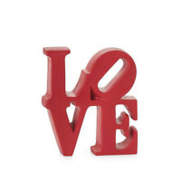 LOVE WORD ART DÉCOR Red Resin by ROBERT INDIANA ** NEW **