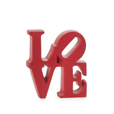 Love Word Art DÉCor Red Resin by Robert Indiana