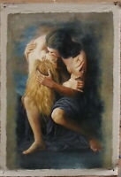 "Fine art Repro oil painting on canvas lover kiss 100% hand-painted 24""x36"""
