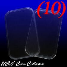 (10) 1 Oz. Silver Bar Direct Fit Air-Tite Capsules [29mm X 50mm] - Genuine