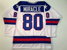 1980 Miracle On Ice USA Hockey White UNSIGNED CUSTOM Jersey Size XL