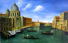 The Canals of Venice Hand Painted Oil Painting on Canvas 24 x 36