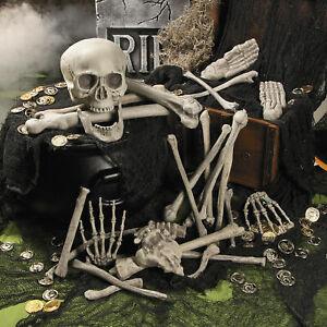 28pcs Human Bones Skull Skeleton Scary Pirate Party Decoration Halloween Props