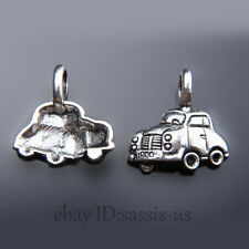 20 pieces 20mm Car Pendant Charms Tibetan Silver DIY Jewelry Making A7442