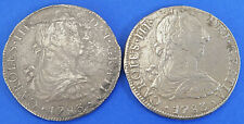 8 Reales 1783 Mexico 2 Piece Lot Coins